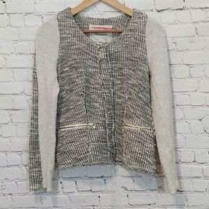 Anthropologie Tweed Jacket Gold Small